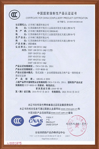 Fire Protection Certificate05