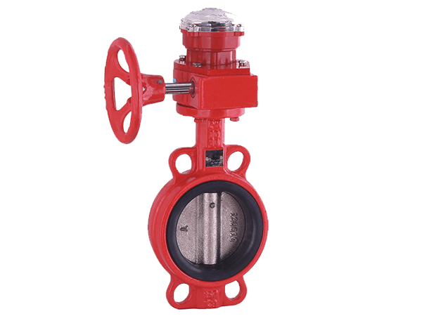 Wafer Concentric Butterfly Valve with Post Indicator